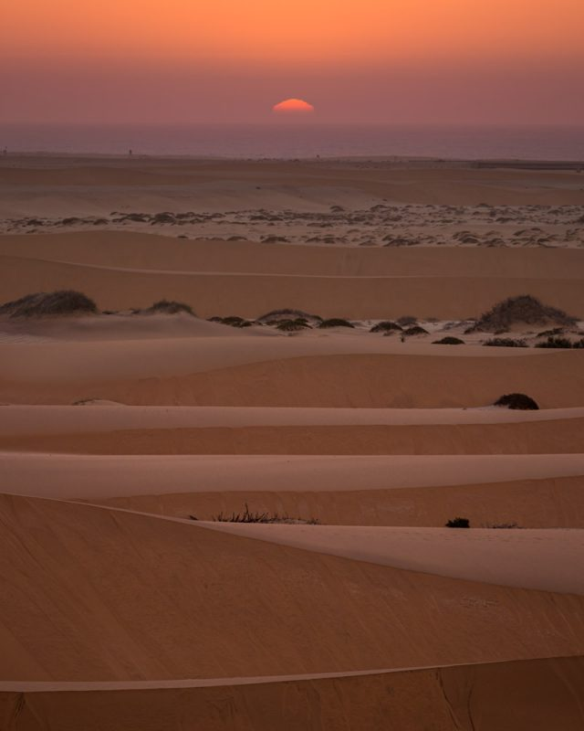 Sunset near Swakopmiund in the dunes